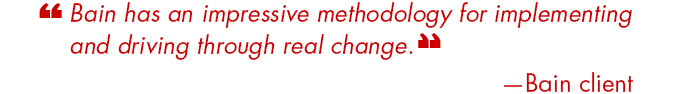 Bain implementation quote